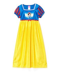 Another great find on #zulily! Yellow & Blue Princess Snow White Fantasy Gown - Girls #zulilyfinds