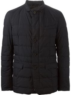 collared padded jacket