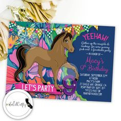free printable horse party invites Horse Party Invitations