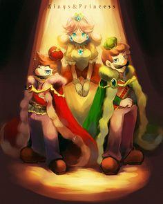 Daisy, Mario, and Luigi Mario Video Game, Super Mario Games, Super Mario Art, Super Mario World, Mario Fan Art, Mario Bros., Mario And Luigi, Mario Kart, Super Mario Brothers