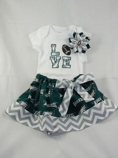 Philidelphia Eagles NFL Embroidered onesie by TheVogueBabyBoutique