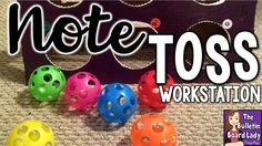 Music Workstation FREE download – Note Toss. Learn how to create this DIY music center with a few easy materials. Your students will love playing this game in your classroom and you'll love their excitement at reviewing note values. This workstation can be altered and used for math facts and reading too! Let's get crafty!