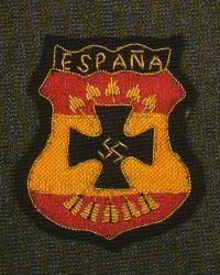 División Azul. Unidad del ejercito español que combatió en el frente del Este al lado del ejercito alemán.
