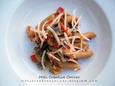 Mel's Creative Corner: Spicy Chipotle Pasta!