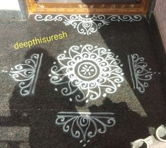 Simple Rangoli Border Designs, Indian Rangoli Designs, Rangoli Designs Latest, Rangoli Designs Flower, Free Hand Rangoli Design, Rangoli Borders, Small Rangoli Design, Rangoli Patterns, Rangoli Designs Images