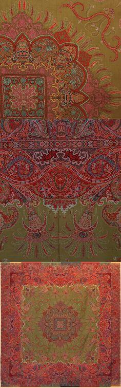 Antique French Shawl. A Rare Masterpiece Design, Circa 182