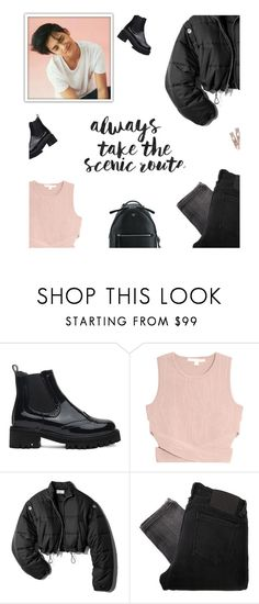 """""""Love does not consist in gazing at each other, but in looking outward together in the same direction."""" by heypandagirl ❤ liked on Polyvore featuring Jonathan Simkhai, 3.1 Phillip Lim, Religion Clothing and Fendi"""