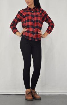 Γυναικείο πουκάμισο καρό από φανέλα POUK-1646-bc Plaid, Shirts, Tops, Women, Fashion, Gingham, Moda, Fashion Styles, Dress Shirts