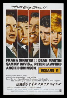 movie posters of the 1960's   ... * CineMasterpiec es OCEAN'S 11 ORIGINAL MOVIE POSTER RAT PACK 1960