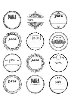 thousands of free printable labels, every style you can think of. WorldLabel's Free Printable Labels Vintage Diy, Vintage Labels, Vintage Style, Printable Vintage, Vintage Tags, Printable Lables, Graphics Vintage, Free Printable Tags, Vintage Ideas