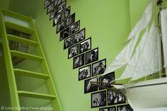 Montée d'escalier réalisée avec des Slimpy Basics Noir