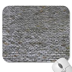 Slate Roof Tiles Background Texture Mouse Pad