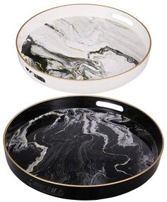 Don't you love resin art? Especially when it reminds you the summer time? Diy Resin Tray, Diy Resin Crafts, At Home Abs, Epoxy Resin Art, Black And White Marble, Round Tray, Decoration, Gifts, Handmade