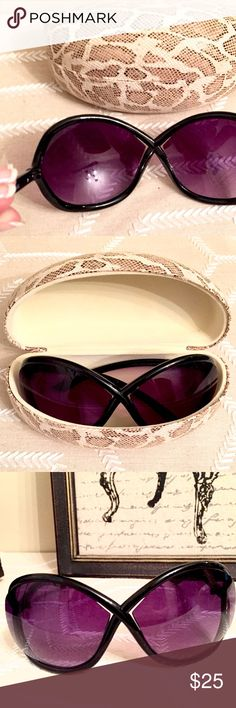 NWOT Bleu Dame Fashion Sunnies Not a fake, just an inspired design. Bought from Bleu Dame. Comes with clamshell hard case. New without tags. NO TRADES OR OFF POSH TRANSACTIONS. Thanks.  Accessories Sunglasses