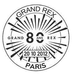 Oblitération temporaire, 80e anniversaire du Grand Rex © Phil@poste, La Poste, DR.