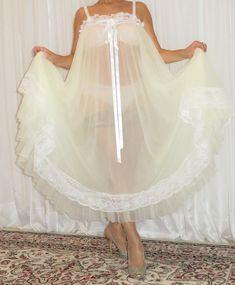 Plus Size Vintage, Plus Size Lingerie, Vintage Lingerie, Night Gown, Tulle, Ballet Skirt, Satin, Lace, Sexy