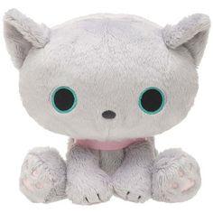cuddly grey Kutusita Nyanko cat plush toy