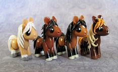 Lovely polymer clay horses..