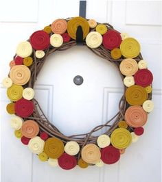 Felt wreaths.... maybe one forever season.  Good gift too!