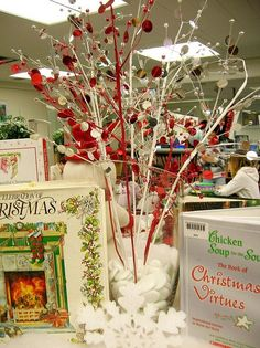 Image result for winter holiday library displays