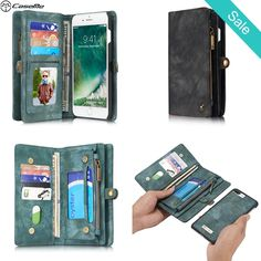 iPhone 7 Plus Case 7Plus Retro Leather Cover Zipper Wallet - iPhone 7 Plus Case 7Plus Retro Leather Cover Zipper WalletCompatible iPhone Model: iphone 7,iphone 7 PlusCompatible Brand: Apple iPhones - On Sale for $29.00 (was $39.00)