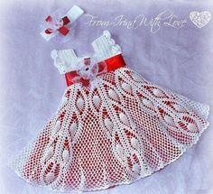 Pix For > Crochet Baby Dress Pattern Free Easy Crochet Baby Dress Pattern, Crochet Baby Clothes, Baby Knitting Patterns, Crochet Patterns, Crochet Dresses, Crochet Designs, Baby Patterns, Dress Patterns, Crochet Girls