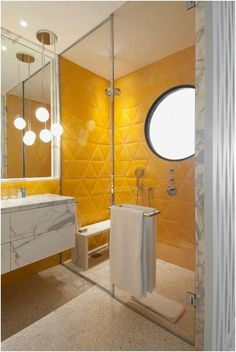 awesome New Yellow Bathroom Tile