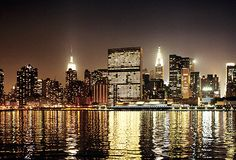 Big Apple By Night New York Skyline, Apple, Night, Travel, Viajes, Destinations, Traveling, Trips, Apples