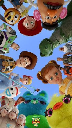 Toy Story 4 Poster Collection: High Quality Posters For All The Toy Story FansYou can find Toy story and more . Cartoon Wallpaper Iphone, Disney Phone Wallpaper, Cute Cartoon Wallpapers, Aesthetic Iphone Wallpaper, Iphone Wallpapers, Disney Pixar, Disney Toys, Disney Art, Disney Characters