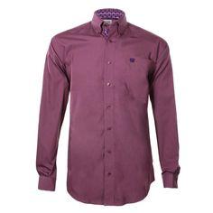 Cinch Men's Solid Print Long Sleeve Western Shirt