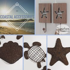Coastal Accessories for your home - Signature Homestyles  #nautical #coastal #beach #homedecor #oasis #turtle #starfish #shell #bathroom