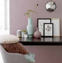 Wohntrends 2017 There is even more pastel inspiration from the Danish interior label Bloomingville: And they make it pastel deco like bright wood, metallic accents and of course soft wall paints. Interior Inspiration, Room Inspiration, Design Inspiration, Deco Pastel, Deco Rose, Danish Interior, New Room, Wall Colors, Colours