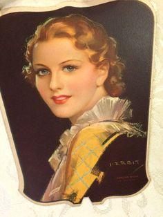 J Erbit no bonita señora cartón abanico sin usar por tinprincess Paper Fans, Etsy, Advertising, Pretty, Hand Made