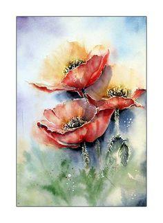 Blumenwiese / Aquarell auf Arches CP 31x41cm / VERKAUFT