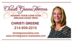 Christi Greene Homes Business Card created by Marni G Designs #MarniGDesigns #BusinessCard #BC #ChristiGreenHomes