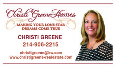 Christi Greene Homes Business Card created by Marni G Designs #MarniGDesigns #BusinessCard #BC #ChristiGreenHomes