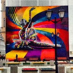 The Kaleidoscope Street Art Portraits of Eduardo Kobra Photos) Street Art Utopia, Street Art Graffiti, Kobra Street Art, Street Art Amsterdam, Arts Barcelona, Street Art Photography, 4th Street, Amazing Street Art, Mural Art