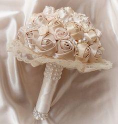 Custom made wedding bridal brooch bouquets, rhinestone wedding bouquets, and hei. Ribbon Bouquet, Wedding Brooch Bouquets, Hand Bouquet, Bride Bouquets, Purple Bouquets, Bridesmaid Bouquets, Boquet, Peonies Bouquet, Flower Bouquets