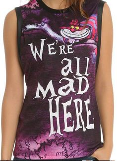 S-M-L-XL-ALICE-in-WONDERLAND-CHESHIRE-CAT-punk-gothic-Were-MAD-MUSCLE-TANK-TOP £28 roughly