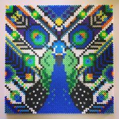 Hama perler bead Art by Camilla Drejer Hama Beads Design, Hama Beads Patterns, Beading Patterns, Perler Beads, Fuse Beads, Beaded Cross Stitch, Cross Stitch Patterns, Perler Bead Templates, Beads Pictures