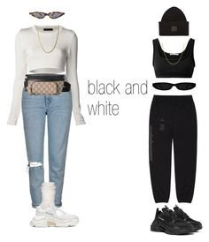 """B and W"" by dejanadi ❤ liked on Polyvore featuring Calvin Klein Collection, Balenciaga, Topshop, Yeezy by Kanye West, T By Alexander Wang, Acne Studios, Lord & Taylor, Gucci and Ozone"