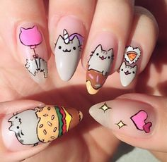 Puuuurfect Cat Manicures Nail Designs For Catlovers cool 20 Puuuurfect Cat Manicures Nail Designs For The Cat Lover In You - !cool 20 Puuuurfect Cat Manicures Nail Designs For The Cat Lover In You - ! Kawaii Nail Art, Cat Nail Art, Cat Nails, Nail Art Designs, Manicure Nail Designs, Nail Manicure, Nails Design, Gel Manicures, Nail Polish