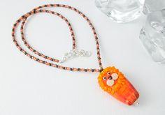 Lion Lampwork Pendant Necklace by Ciel Creations