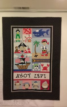 Cindy made this quilt for her grandson using Amy Bradley Designs Pirates pattern