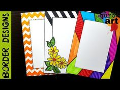Floral, Border designs on paper border designs project work designs borders for projects by --------------------------------------------------------. Boarder Designs, Page Borders Design, Border Ideas, Paper Design, Design Art, Art Designs, Cover Page For Project, File Decoration Ideas, Front Page Design