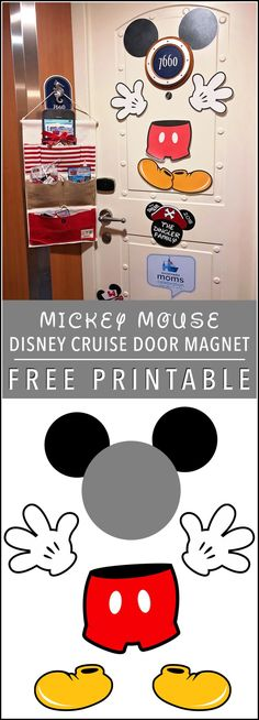 Mickey Mouse Door Magnet [FREE PRINTABLE] Disney Cruise Line #DisneySMMC