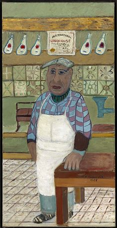 The Corner Butcher by Ralph Fasanella. Search the Smithsonian American Art museum collection, one of the world's largest and most inclusive collections of art made in the United States. Community Jobs, Communities Unit, Museum Collection, American Art, Art Lessons, Art Museum, Corner, Paintings, Sculpture
