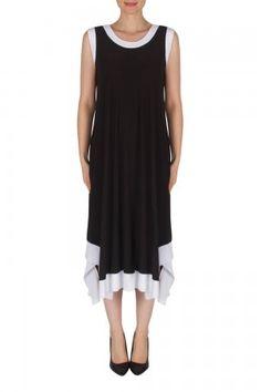 Joseph Ribkoff Black/White Dress Style 182024 Spring Summer 2018, Joseph, White Dress, Black And White, Collection, Dresses, Style, Vestidos, Swag