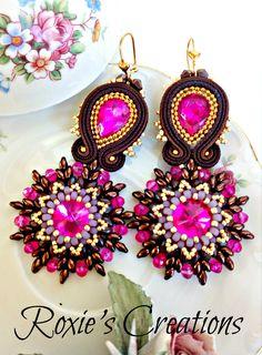 Soutache Earrings, Handmade Earrings, Soutache Jewelry, Handmade from Italy di LeGioieDiRoxie su Etsy