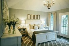 Dream Bedroom, Home Bedroom, Bedroom Decor, Master Bedrooms, Bedroom Ideas, Pretty Bedroom, Bedroom Images, Joanna Gaines, Fixer Upper Bedrooms